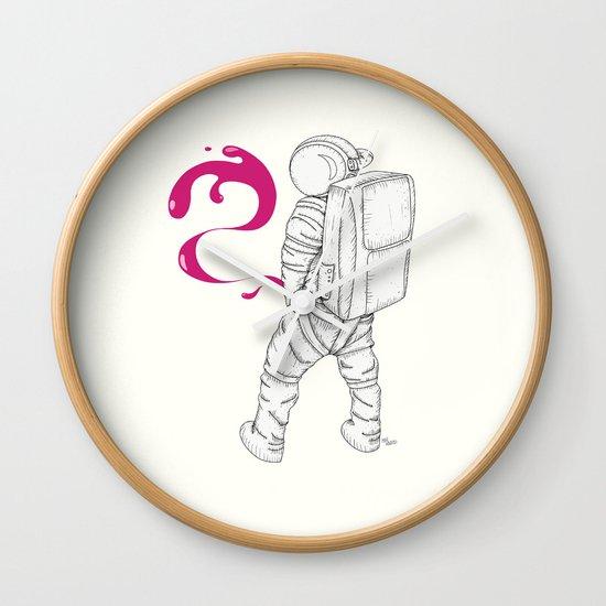 P{ee}ink in Space Wall Clock