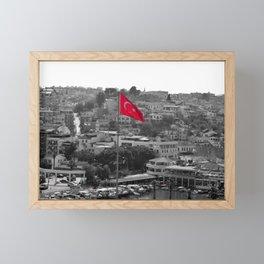 Flag of Turkey POP Framed Mini Art Print