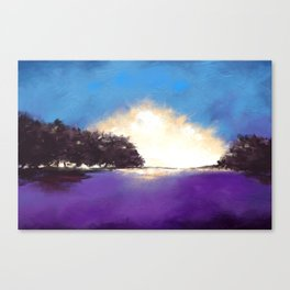 Painting of an abstract-minimalist landscape Canvas Print