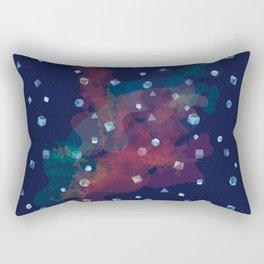 Polyhedral Dice- Nebula Rectangular Pillow