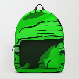 abstract style aurora borealis absde Backpack