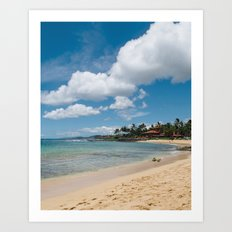 Poipu beach Art Print
