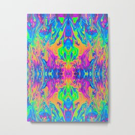 Psychedelic Spill 6 (Mirror Lab version) Metal Print