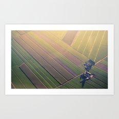 Dutch Fields Art Print
