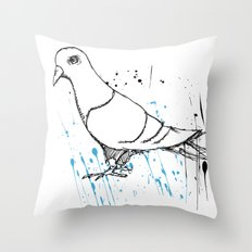 Bird Of Grey Throw Pillow