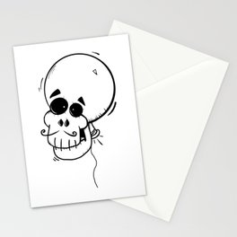 Ballon skull Stationery Cards