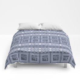 Ornament color blue . Comforters