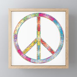 flourish decorative peace sign Framed Mini Art Print