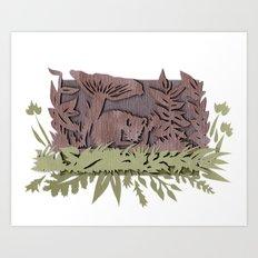 Sleeping Mouse Art Print