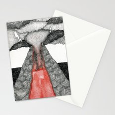 robot volcano Stationery Cards