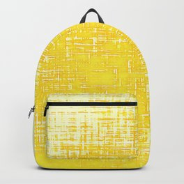 Woven Illuminating Yellow and White Abstraction Backpack
