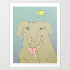 Dogdy dog Art Print