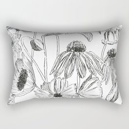 flower party black and white Rectangular Pillow