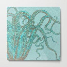 Stardust Tentacles Octopus Metal Print