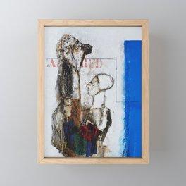 Femme et enfant au bleu Framed Mini Art Print