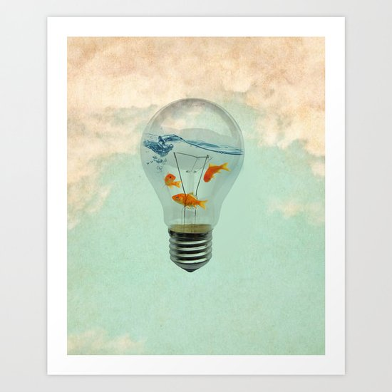 ideas and goldfish 02 Art Print