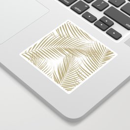 Palm Leaves - Gold Cali Vibes #1 #tropical #decor #art #society6 Sticker