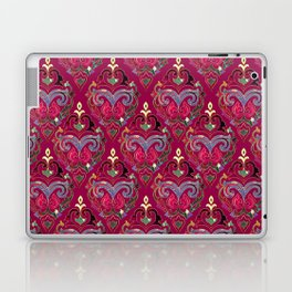 Persian Floral pattern  with painted texture and gold Laptop & iPad Skin