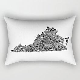 Typographic Virginia Rectangular Pillow