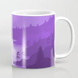 Night River 2 - Minimal Art in purple Coffee Mug