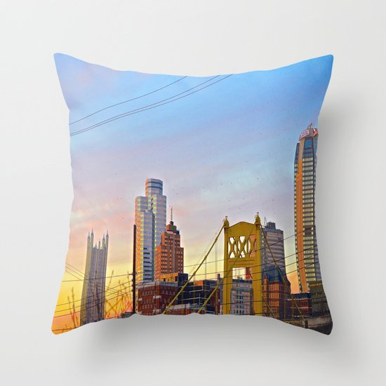 Sunset from the Southside Throw Pillow