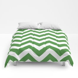 May green - green color - Zigzag Chevron Pattern Comforters