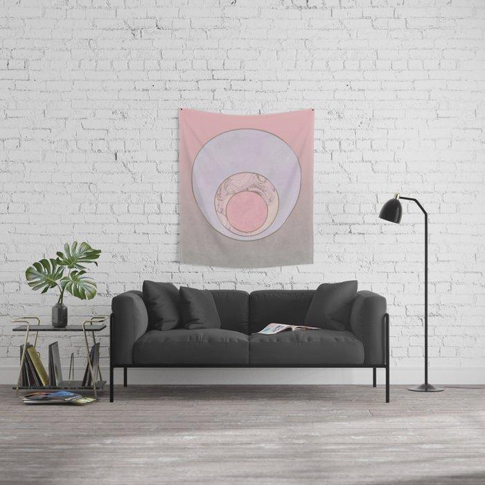 Soft Pastel Elegant Circles Wall Tapestry