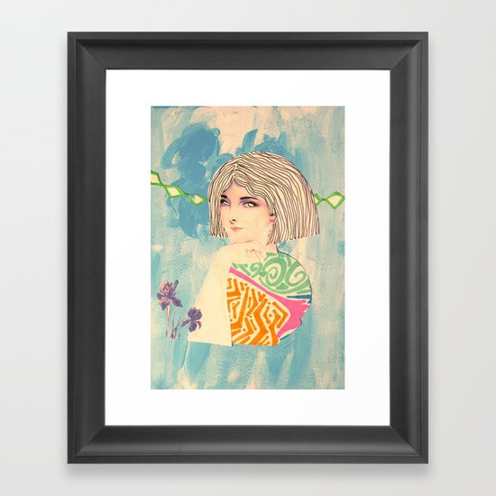 Victorian Blue Framed Art Print