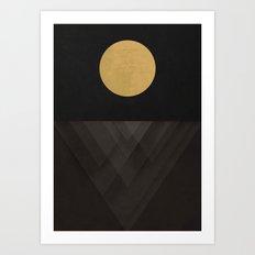 Moon Reflection on Quiet Ocean Art Print