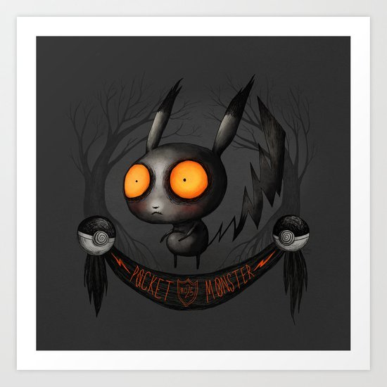 Pocket Monster #025 Art Print