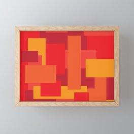 Fiery Framed Mini Art Print