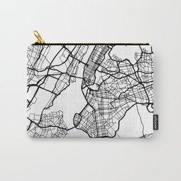 NEW YORK CITY NEW YORK BLACK CITY STREET MAP ART Carry-All Pouch