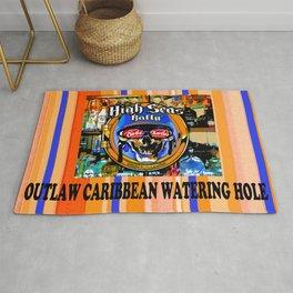 SKULL OUTLAW CARIBBEAN SALOON AND BAR Rug