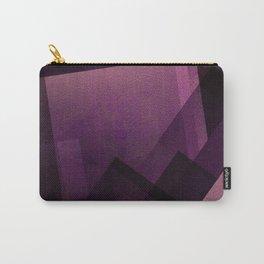 Modular Magenta - Digital Geometric Texture Carry-All Pouch