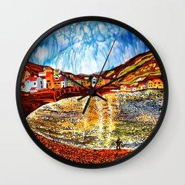 landskape-lake-fishing-oldtown Wall Clock