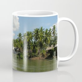 Village in the Tropical Jungle on the Mekong River Coffee Mug