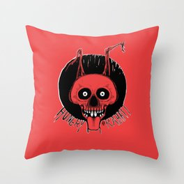 Hungry Rabbit Throw Pillow