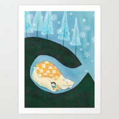 Hibernating Together Art Print