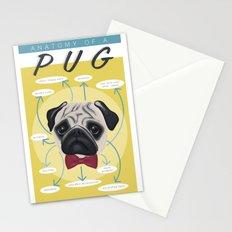 Anatomy of a Pug Stationery Cards
