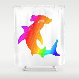 Rainbow hammerhead Shower Curtain