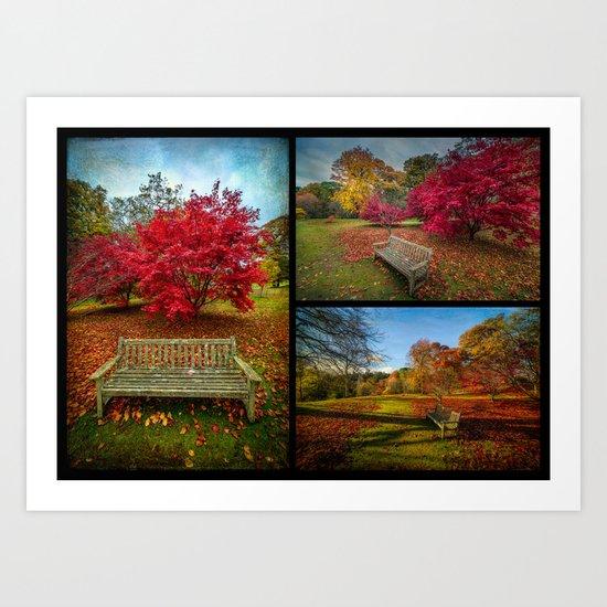 Autumn Triptych Art Print