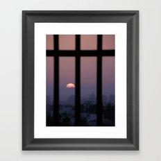Sunrise prison Framed Art Print