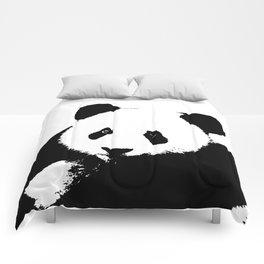 Giant Panda in Black & White Comforters