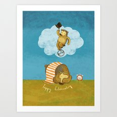 What bears dream of Art Print