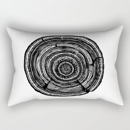 Tree Rings Rectangular Pillow