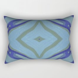 Blue Wave Nautical Medallion Rectangular Pillow