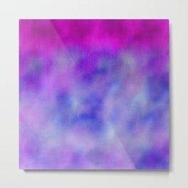 Lavender purple navy blue abstract watercolor Metal Print