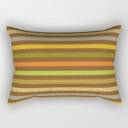 Fall Colors Stripes Craft Paper Texture Rectangular Pillow