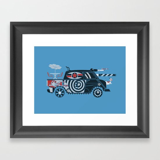 Vantastic Tank Girl Framed Art Print