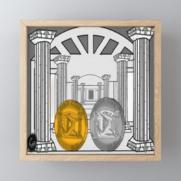 Necropolis Coins Gold and Silver 1 Framed Mini Art Print
